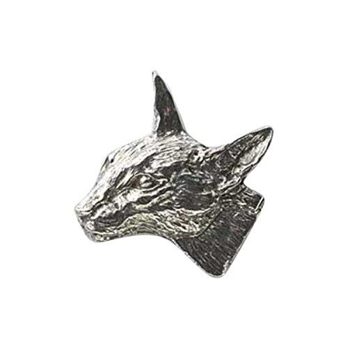 In peltro, a forma di gatto Siamese, Pin-Spilla da bavero, C008