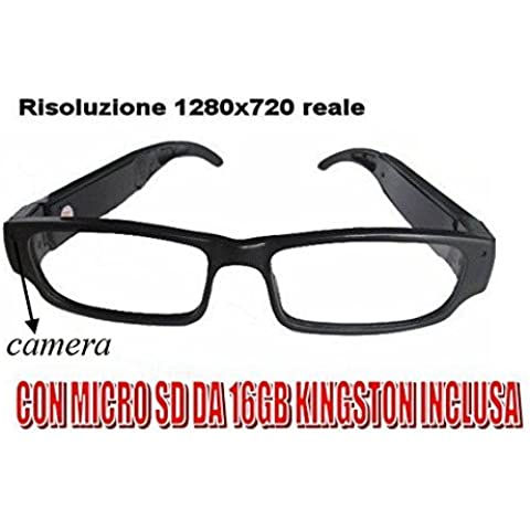 Vasos Spy Video View Real 1280 x 720 HD 720P + Micro SD 16 GB kingston con cámara de espionaje okkulten