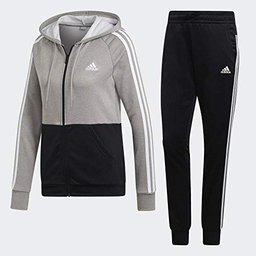 adidas Damen Game Time Trainingsanzug, Solid Grey/Black/White, S