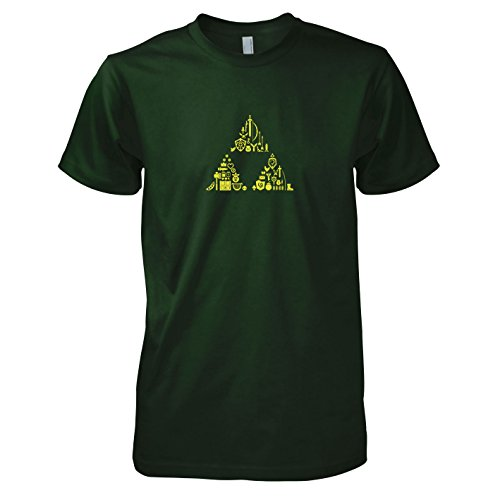 TEXLAB - Link's Stuff - Herren T-Shirt, Größe XL, flaschengrün (Hyrule Warriors Legends Kostüme)