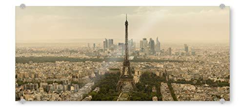 artboxONE Acrylglasbild 120x40 cm Städte Paris Panorama Bild hinter Acrylglas - Bild Paris Eiffelturm Frankreich