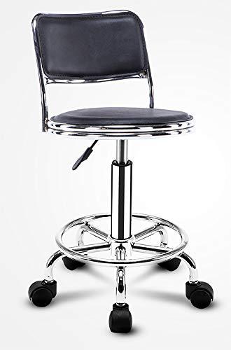 WCURT, Taburete de la Silla de peluquería Beauty Manicure, mostrador de recepción Mostrador de la Silla elevadora, Silla giratoria Ajustable de 360 ° de Altura Silla ergonómica del Taburete,