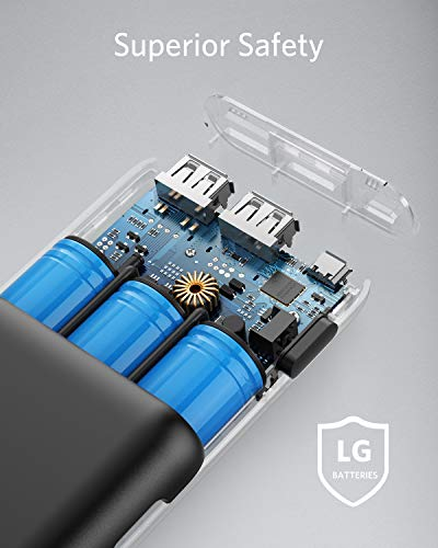 Anker PowerCore 20100mAh Externer Akku – kompakter als jemals zuvor – extrem hohe Kapazität 2-Port 4.8A Output Power Bank Ladegerät mit PowerIQ Technologie für iPhone, iPad, Samsung Galaxy und weitere (Schwarz/Matt) - 6