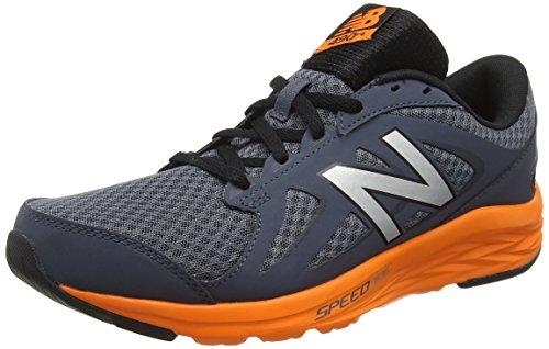 New Balance Mens 490 Running Shoes Multicolore (grigio / Arancio 058 Grigi / Arancio 058)