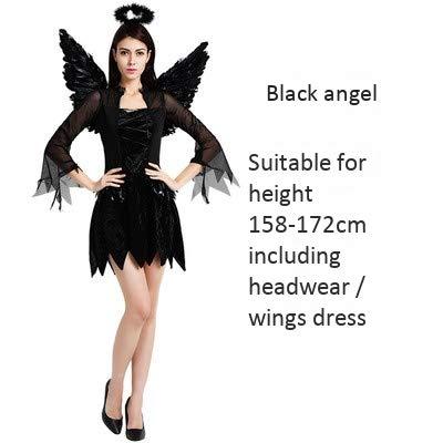 Haojiagongsi costume da strega in maschera per adulti costume di halloween angelo nero