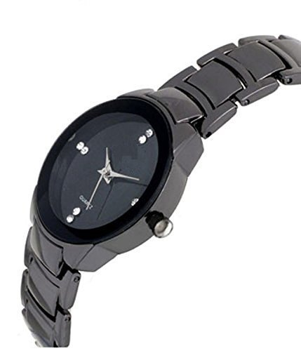 BLUE DIAMOND Analogue black dial watch for girls and women