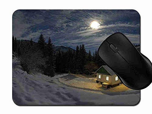 Mauspad Cold Moon House Rutschfeste Gummi Basis Mouse pad, Gaming und Office mauspad für Laptop, Computer PC 1H695 -