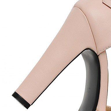 LvYuan Femme Sandales Confort Nouveauté Similicuir Polyuréthane Eté Automne Habillé Soirée & Evénement Marche Confort Nouveauté Noeud Gros Talon blushing pink
