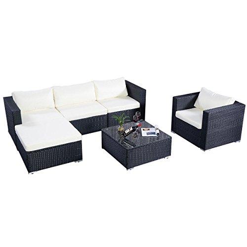 Poly Rattan Sofa Gartenmöbel Lounge Set Gruppe Sitzgruppen