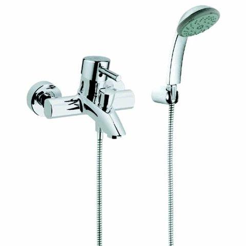 Grohe J00484 32212000 Mix Badewannensystem mit Wasserhahn und Brause