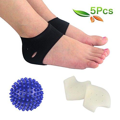 HLYOON H07 fasciite plantaire 5pcs manchon de fasciite plantaire, bille de massage, support de voûte plantaire, masseur pour les pieds, talonnettes, atténuation de la douleur au pied et des métatarsalgies