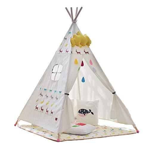 XUMING Innen Zelte, Kinderzelte und Hütten, Spielhaus zum Schlafen, Verstecken und Spielen für Jungen und Mädchen, indische Zelte, Rehkitz