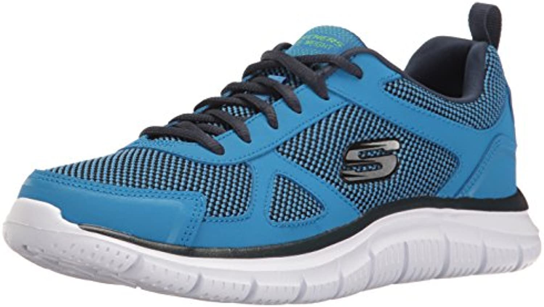 Skechers Track BUCOLO Sportschuhe/Laufschuhe in übergrößen Blau 52630/BLLM Große Herrenschuhe