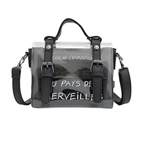 HARRYSTORE Damen Tasche Shopping Messenger Bag Printing Portable Transparente Umhängetasche Mode Mini Kleine Umhängetasche Transparente Mädchen Cute Bag Printed Handtaschen ()