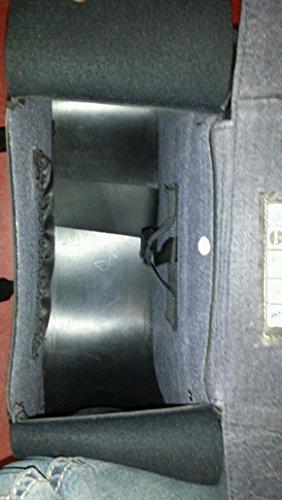 Sella grande due pezzi borchie PVC bisaccia Cruiser Style fondina pistola Insid