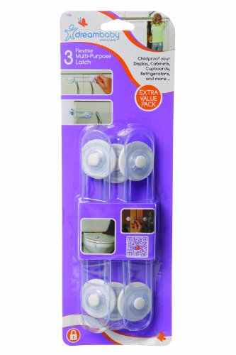dreambaby-multi-purpose-latches-extra-value-pack-of-3-transparent