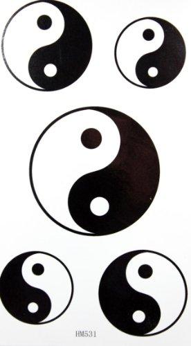 Mode Tai Chi conception de tatouage temporaire stckers