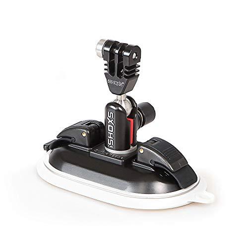 iSHOXS Power Force Cup Prox, Premium Saugnapf aus Aluminium passend für GoPro und kompatible Action-Cams, schwarz, weiße Membran - Membran-module