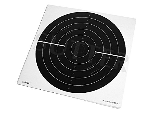 Zielscheiben 55x53cm mit Einsteckschlitzen (3/4 schwarz) - 20er Pack