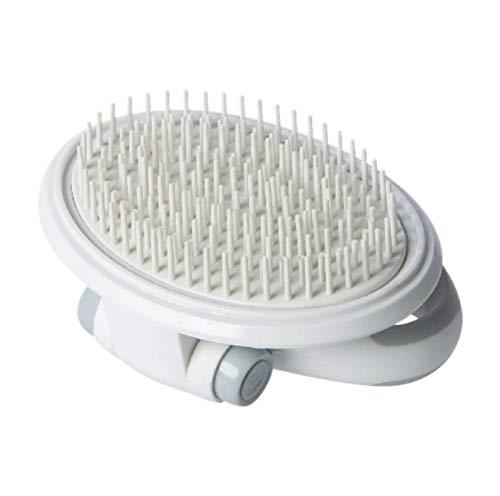 Liumenglin Tragbare Pet Comb Multi-Functional Einstellbare Pet Massage Comb Weiß Soft Pin Pinsel Universal für Hunde Katze Pet Grooming Supplies -