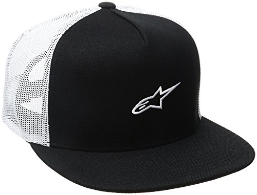 Alpinestars Herren Amigo Men's Logo Flexfit Hat Curved Bill Trucker Snap Back Cap, Schwarz, One Size