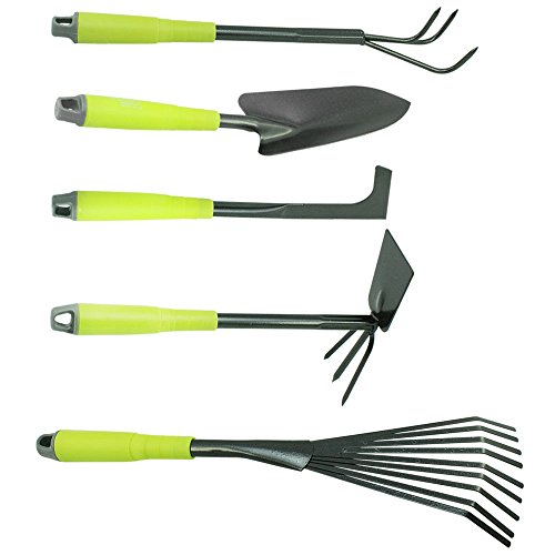COM-FOUR-Lot-de-5-outils-de-jardin-Binette-double-cultivateur-manuel-grattoir-petit-rteau-truelle–fleurs-Vert