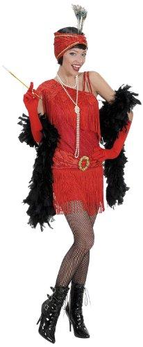 Widmann 73003 - Erwachsenenkostüm Charleston, Kleid und Kopfbedeckung, Größe L