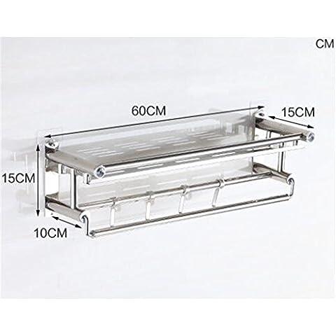 LXSnail Mensola bagno / aspirante in acciaio inox bagno cucina multifunzione scaffalature / rack di stoccaggio ( colore : 3* )