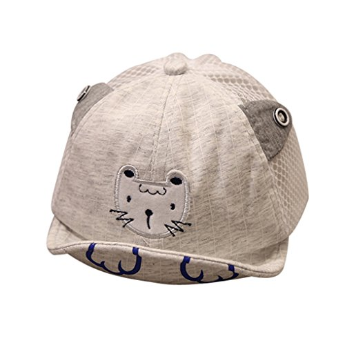 JYJMCute Infant Kids Tiger Cartoon Animal Hat Peak Baseball Cap Sunhat Soft Baseball Base Duck Cap Visor (Grau, Size:46-52cm/18.1''-20.4') - Grau Infant Baseball