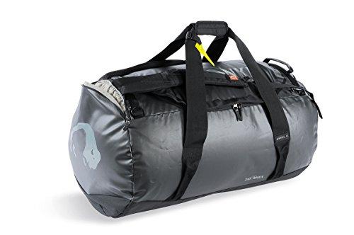 Tatonka Barrel XL Reisetasche - 110 Liter - wasserfeste Tasche aus LKW-Plane mit Rucksackfunktion und großer Reißverschluss-Öffnung - große Rucksacktasche - unisex - schwarz