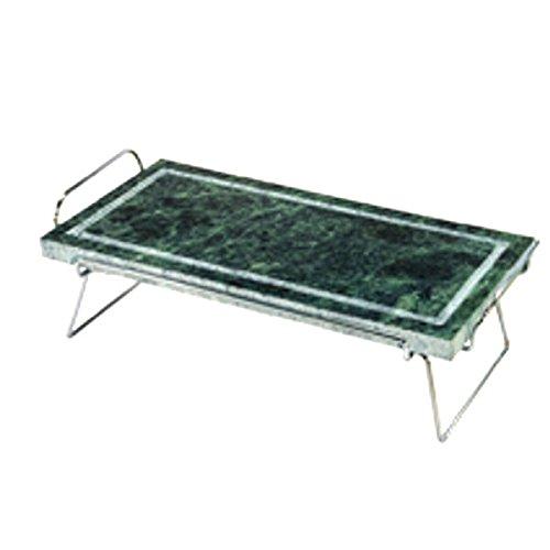 Pietra Ollare Rettangolare con stand in acciaio inox 19x37 con Stand Ilsa