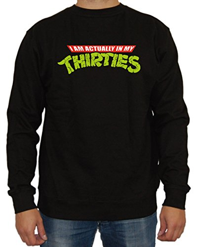 In my thirties Turtles Sweater (M, (Film Turtles O April Ninja Neil)
