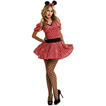 My Other Me - Disfraz de ratoncita sexy, para mujer, talla S, color rojo (Viving Costumes MOM02609)
