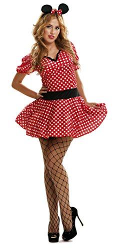 s Kostüm, für Damen, Größe S, rot (viving Costumes mom02609) (Sexy Minnie Kostüme)
