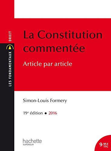 La Constitution commente
