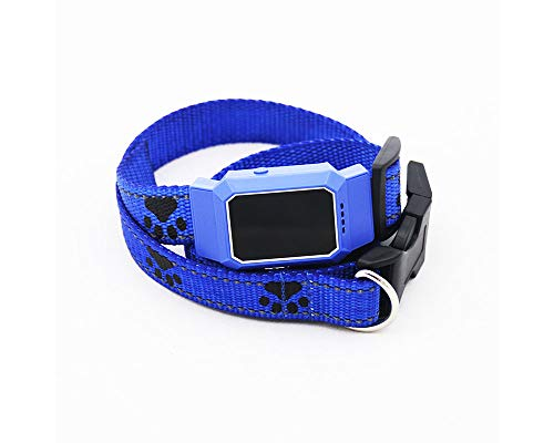 gengyouyuan Pet Locator GPS Tracking Wasserdicht Haustier Multi-Anti-verlorene Positionierung Standby-intelligente Überwachung (Blau)