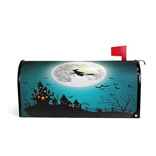 BIGJOKE Halloween Hexe Galaxie Briefkasten, magnetisch, Briefkasten, Briefkasten, Abdeckung für Haus, Garten, Hof, Dekoration