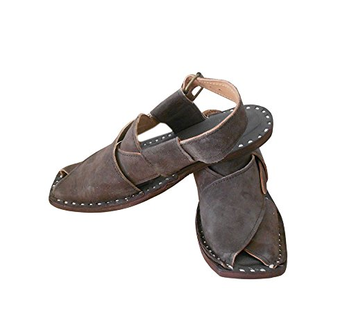kalra Creations hommes de traditionnel fait à la main en cuir Casual Sandales Marron