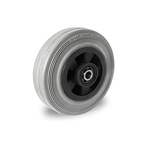 Einbaurad 100 mm Vollgummi spurlos Rollenlager
