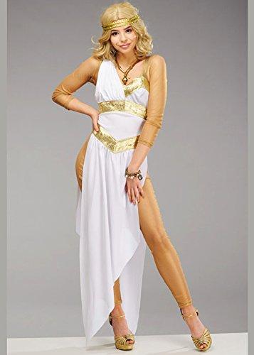 Für Goldene Erwachsene Frauen Göttin Kostüm - Magic Box Int. Deluxe goldenes griechisches Göttin-Kostüm der Frauen S (UK 8-10)