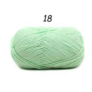 Shoppy étoile 1pièce = 50g Laine 100% Coton Biologique Fil à Tricoter pour Crochet Pull Chaussettes 24Couleurs Crochet Aiguille N ° 2: 181pièce