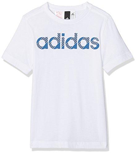 Adidas ragazzi lineare t shirt, ragazzo, linear, bianco, 152