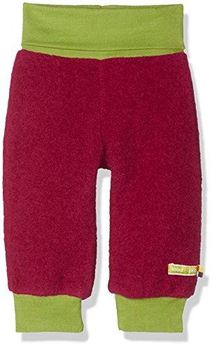 loud + proud Baby-Mädchen Hose Wollfleece, Violett (Berry Ber), 92 (Herstellergröße: 86/92) (Waschbar Hosen Wolle)