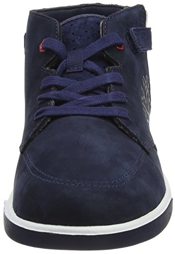 Timberland Unisex-Kinder Groveton Chukka with Sneaker Blau - Bleu (Black Iris)