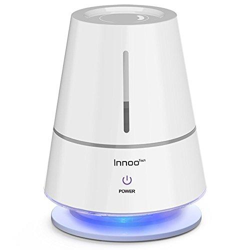 Luftbefeuchter, Innoo Tech 2L Ultraschall Humidifiers mit Filter, Licht Raumbefeuchter, Kalt Dampf mit lange Arbeitszeit, Perfekt für Schlafzimmer, Büro und Baby-Kinderzimmer (bis 25㎡)