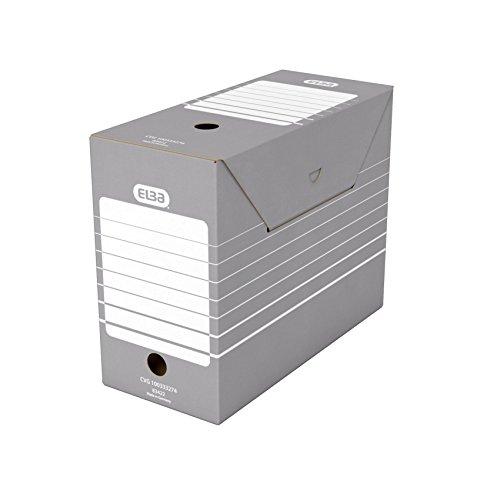 ELBA 400061154 Archivbox tric 15 cm breit für Hängeregistratur mit Reiter in der Farbe grau