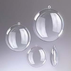 Médaillon en plastique cristal transparent séparable, Contenant sécable de diam. 9 cm