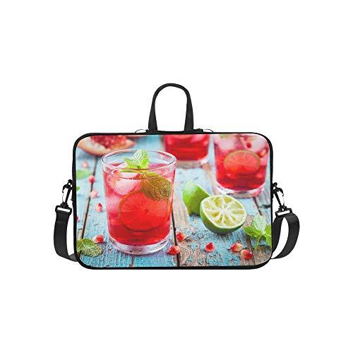 Kalte hausgemachte Limonade Granatapfel Mint Kalk Aktentasche Laptoptasche Messenger Schulter Arbeitstasche Crossbody Handtasche für ()