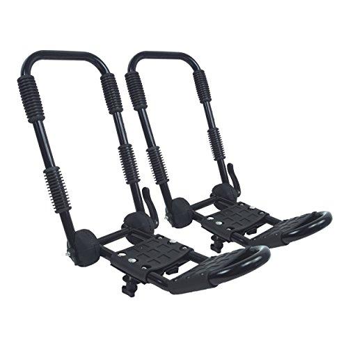 Lomo plegable J barras para kayak (para montar sobre techo de bares
