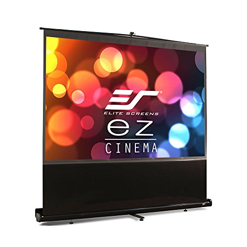 Elite Screens F100NWV ezCinema Series Leinwand (Diagonal 254 cm (100 Zoll), Höhe 152,4 cm (60 Zoll), Breite 203,2 cm (80 Zoll), Format 4:3) schwarz Diagonale Elite Screens
